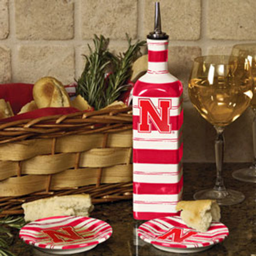 Nebraska Cornhuskers Ceramic Dipping Set