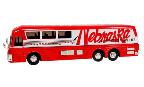 Nebraska Cornhuskers White Rose Musical Bus