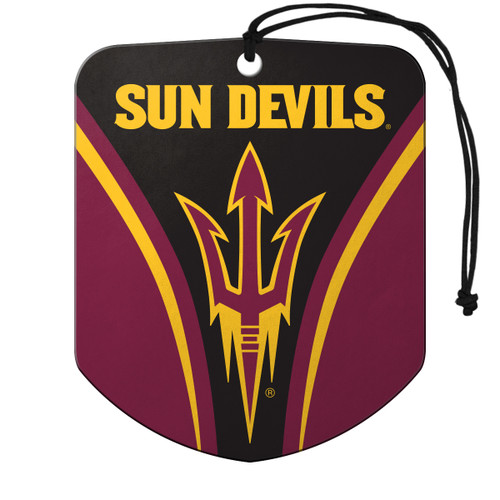 Arizona State Sun Devils Air Freshener Shield Design 2 Pack - Special Order