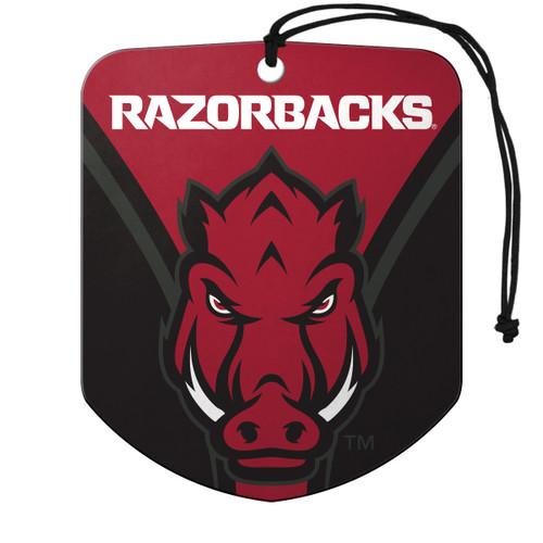 Arkansas Razorbacks Air Freshener Shield Design 2 Pack - Special Order