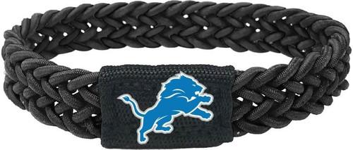 Detroit Lions Bracelet Braided Black