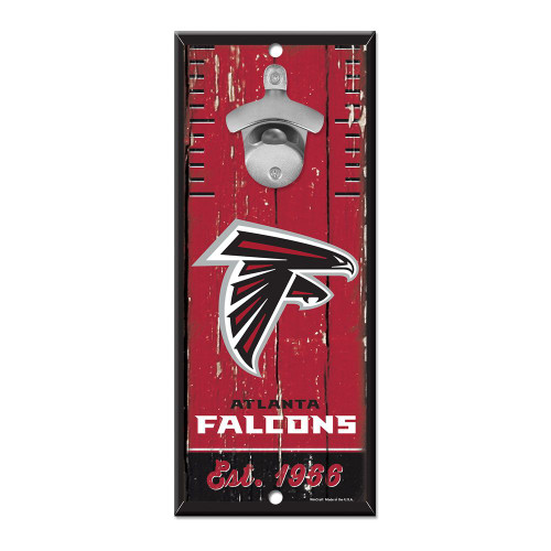 Atlanta Falcons Sign Wood 5x11 Bottle Opener