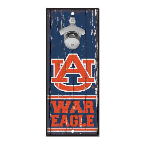 Auburn Tigers Sign Wood 5x11 Bottle Opener