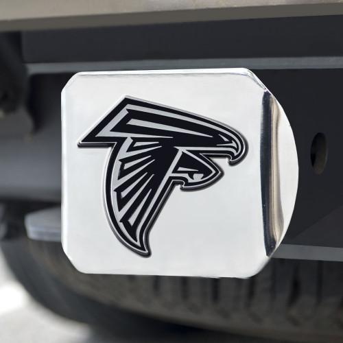 Atlanta Falcons Hitch Cover Chrome Emblem on Chrome - Special Order