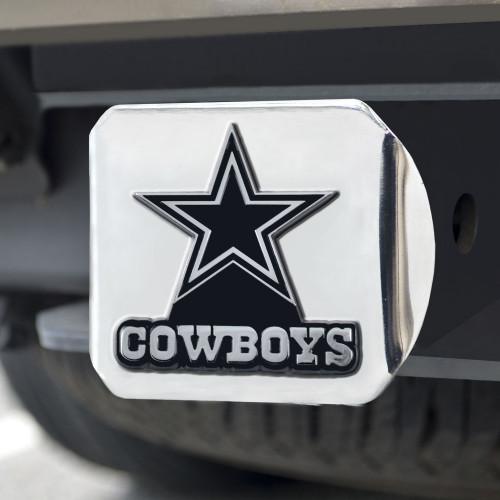 Dallas Cowboys Hitch Cover Chrome Emblem on Chrome - Special Order