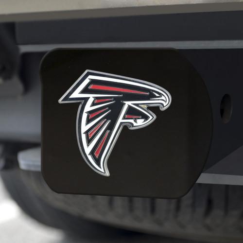 Atlanta Falcons Hitch Cover Color Emblem on Black
