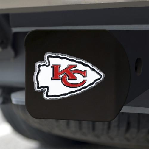Kansas City Chiefs Hitch Cover Color Emblem on Black