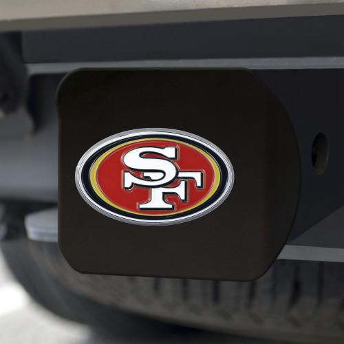 San Francisco 49ers Hitch Cover Color Emblem on Black