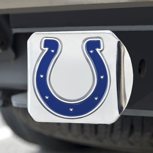 Indianapolis Colts Hitch Cover Color Emblem on Chrome