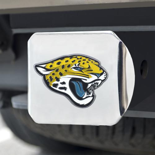 Jacksonville Jaguars Hitch Cover Color Emblem on Chrome