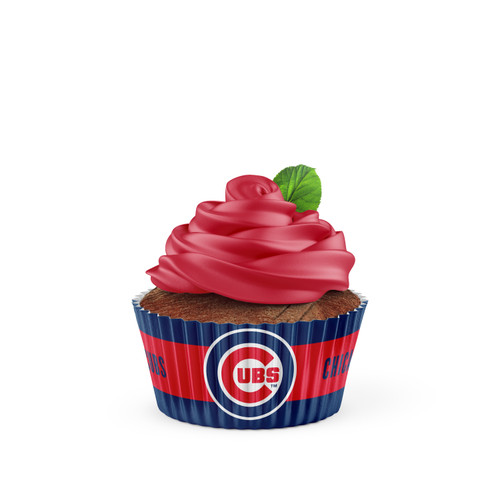 Chicago Cubs Baking Cups Large 50 Pack