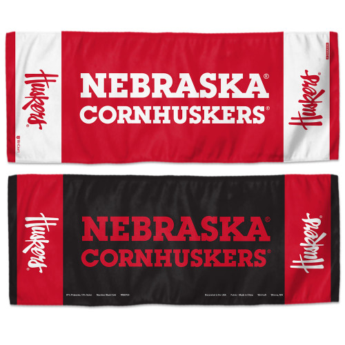 Nebraska Cornhuskers Cooling Towel 12x30 - Special Order
