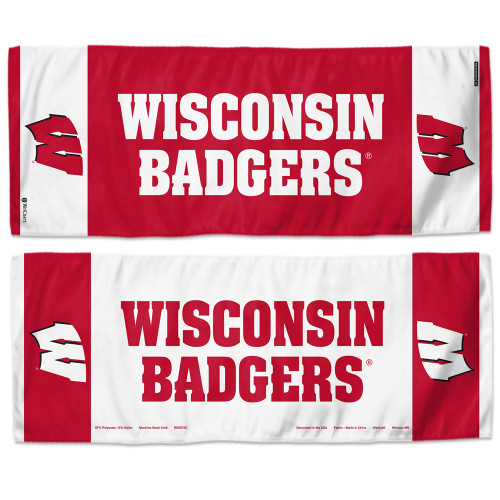 Wisconsin Badgers Cooling Towel 12x30 - Special Order