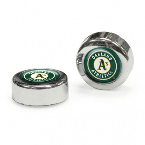 Oakland Athletics Screw Caps Domed - Special Order