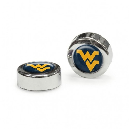 West Virginia Mountaineers Screw Caps Domed - Special Order