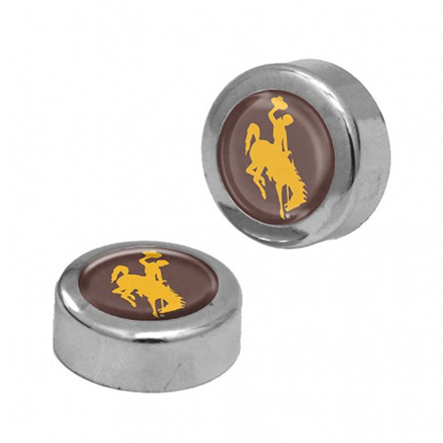 Wyoming Cowboys Screw Caps Domed - Special Order