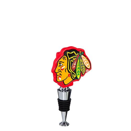 Chicago Blackhawks Wine Bottle Stopper Logo - Special Order