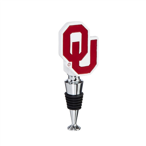 Oklahoma Sooners Wine Bottle Stopper Logo - Special Order
