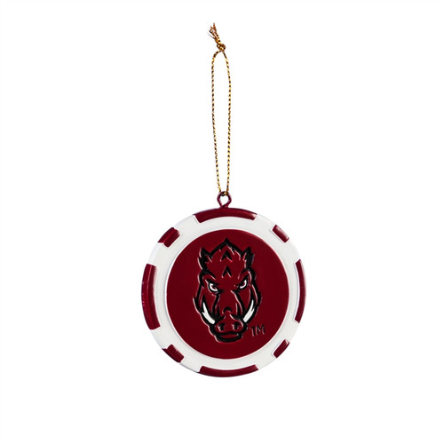 Arkansas Razorbacks Ornament Game Chip - Special Order