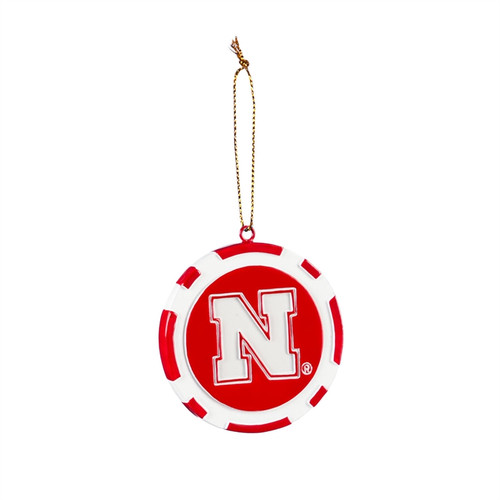 Nebraska Cornhuskers Ornament Game Chip - Special Order