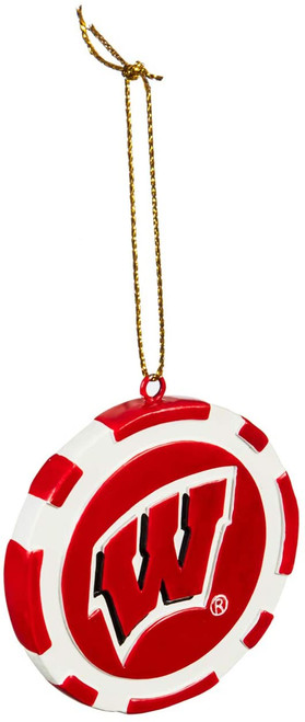 Wisconsin Badgers Ornament Game Chip - Special Order