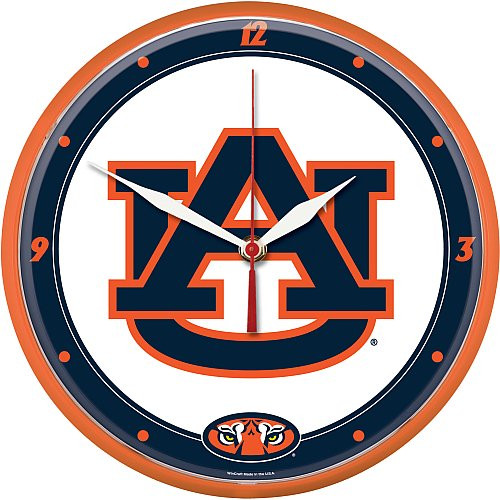 Auburn Tigers Clock Round Wall Style - Special Order