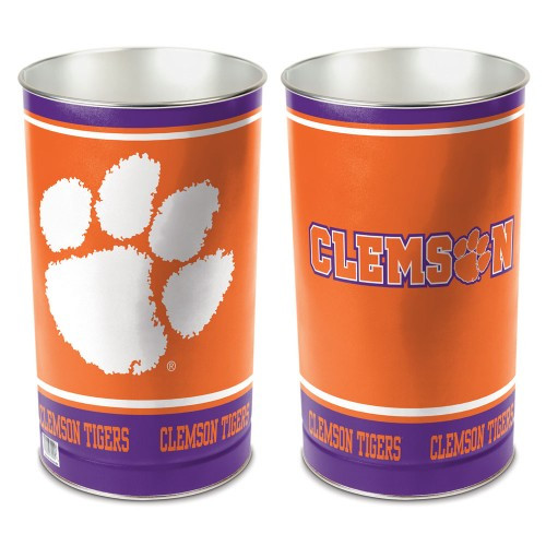 Clemson Tigers Wastebasket 15 Inch
