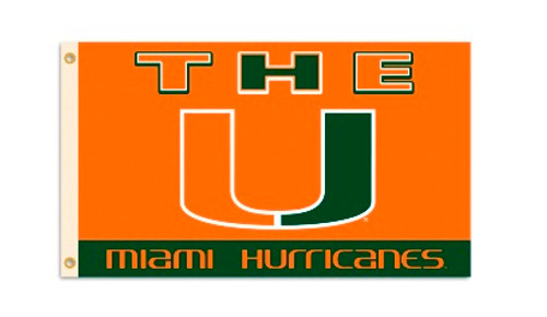 Miami Hurricanes Flag 3x5 BSI