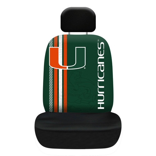Miami Hurricanes Seat Cover Rally Design - Special Order