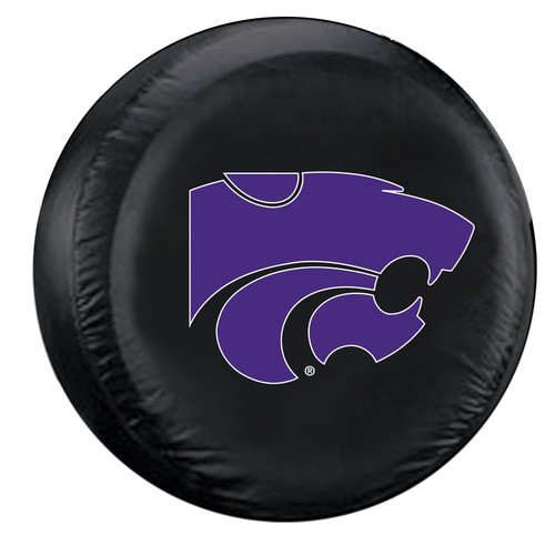 Kansas State Wildcats Tire Cover Large Size Black CO