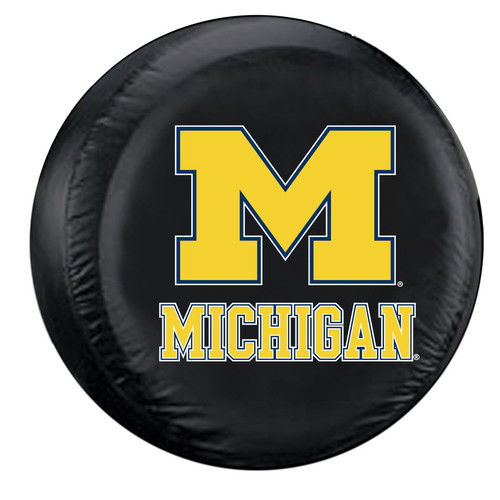 Michigan Wolverines Tire Cover Large Size Black CO