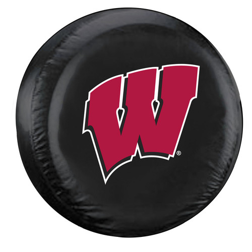 Wisconsin Badgers Tire Cover Large Size Black CO