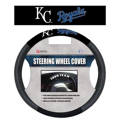 Kansas City Royals Steering Wheel Cover Mesh Style CO