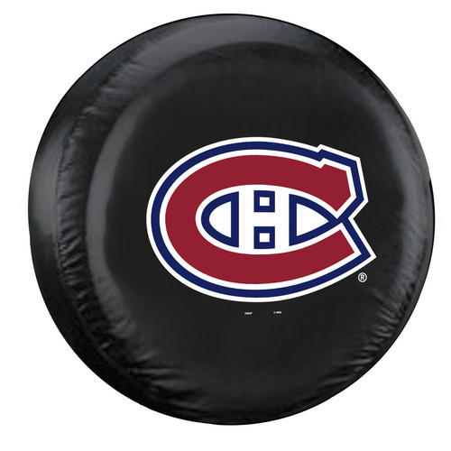 Montreal Canadiens Tire Cover Large Size Black - Special Order