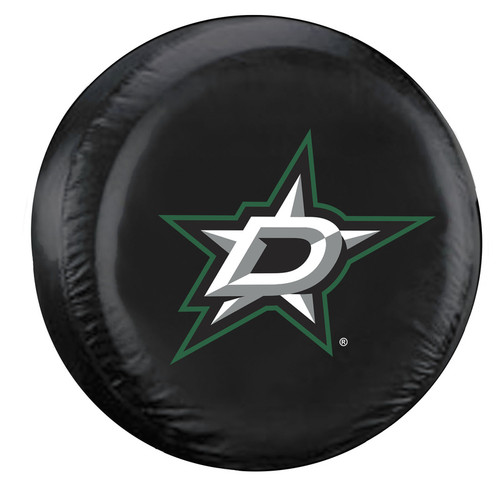 Dallas Stars Tire Cover Large Size Black - Special Order