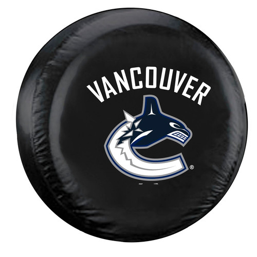 Vancouver Canucks Tire Cover Standard Size Black - Special Order