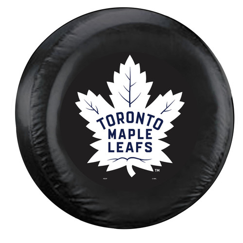 Toronto Maple Leafs Tire Cover Standard Size Black - Special Order