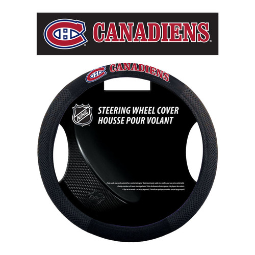 Montreal Canadiens Steering Wheel Cover Mesh Style - Special Order