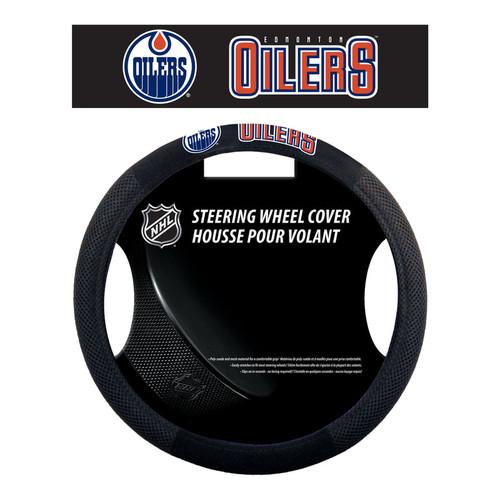 Edmonton Oilers Steering Wheel Cover Mesh Style - Special Order
