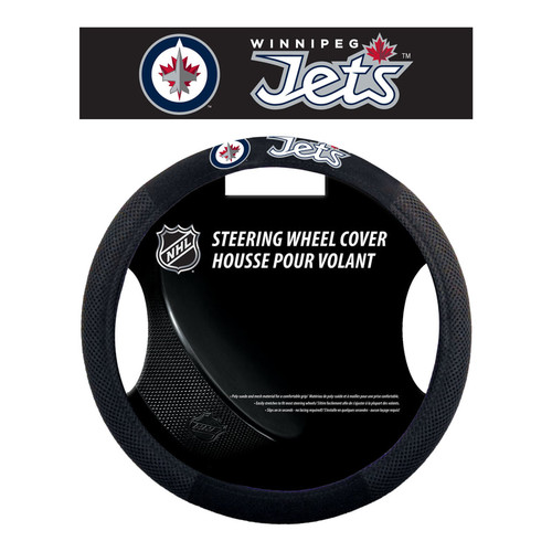 Winnipeg Jets Steering Wheel Cover Mesh Style - Special Order