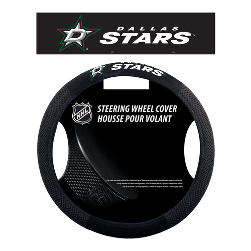 Dallas Stars Steering Wheel Cover Mesh Style - Special Order