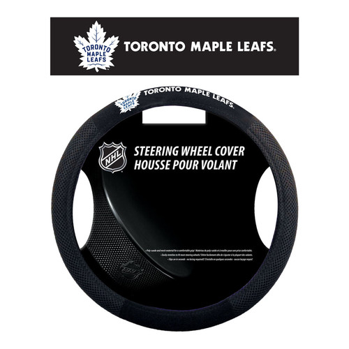 Toronto Maple Leafs Steering Wheel Cover Mesh Style - Special Order