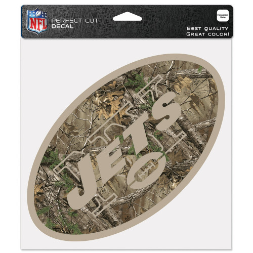 New York Jets Decal 8x8 Perfect Cut Camo - Special Order