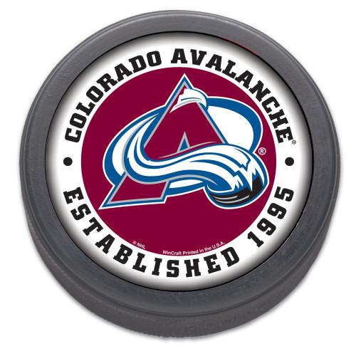 Colorado Avalanche Hockey Puck Packaged Est 1995 Design