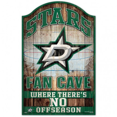 Dallas Stars Sign 11x17 Wood Fan Cave Design - Special Order