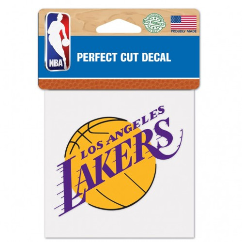 Los Angeles Lakers Decal 4x4 Perfect Cut Color