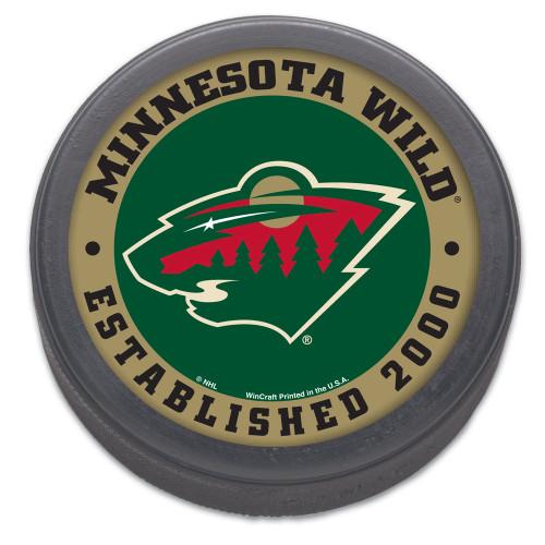 Minnesota Wild Hockey Puck Packaged Est 2000 Design