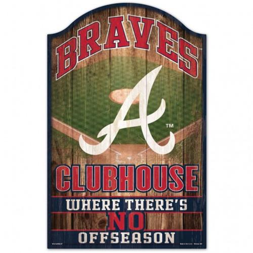 Atlanta Braves Sign 11x17 Wood Fan Cave Design - Special Order