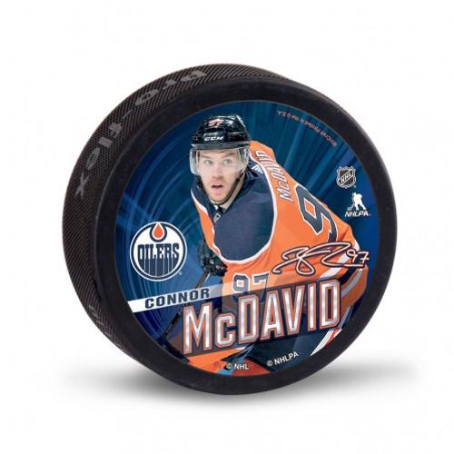 Edmonton Oilers Hockey Puck Bulk Connor McDavid Design - Special Order