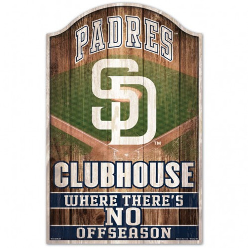 San Diego Padres Sign 11x17 Wood Fan Cave Design - Special Order